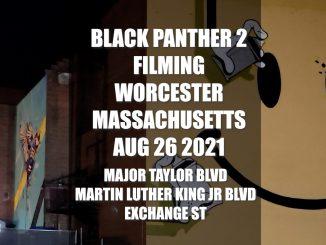 Black Panther 2 Filming Main Street Worcester Massachusetts - Wakanda Forever - August 26 2021