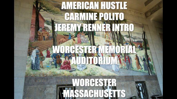 American Hustle Jeremy Renner Carmine Polito Intro at Worcester Memorial Auditorium Massachusetts